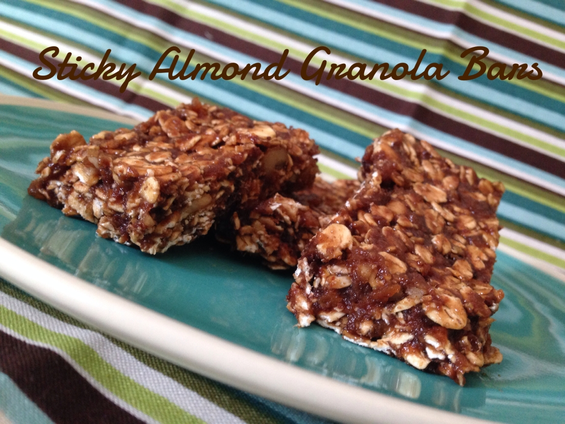 Sticky Almond Bars: Make Your Own Granola Bars: Easier than it sounds!
