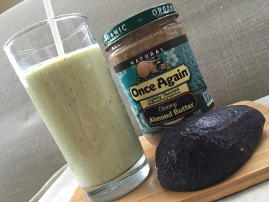 Avocado and Lamond Butter shake