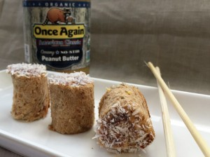 PB and Jelly Sushi roll - check OnceAgainNutButterBlog.com for recipe