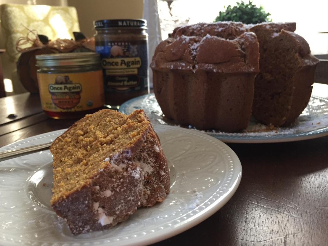 Pumpkin Almond Butter Bundt Cake - www.OnceAgainNutButterBlog.com