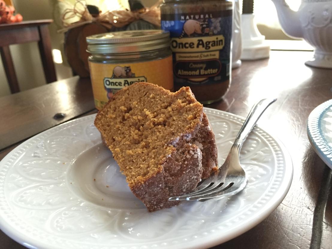 Pumpkin Almond Butter Bundt Cake2- www.OnceAgainNutButterBlog.com
