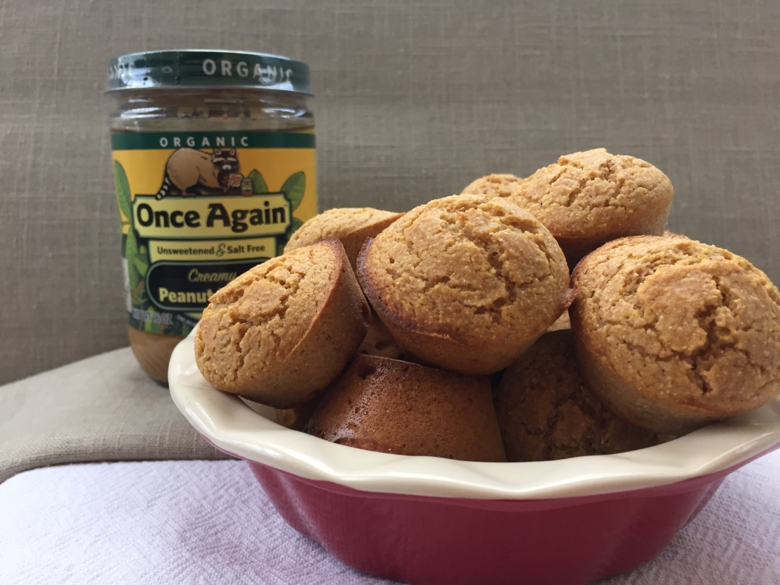 Peanut Butter Corn Muffins - www.onceagainnutbutterblog.com