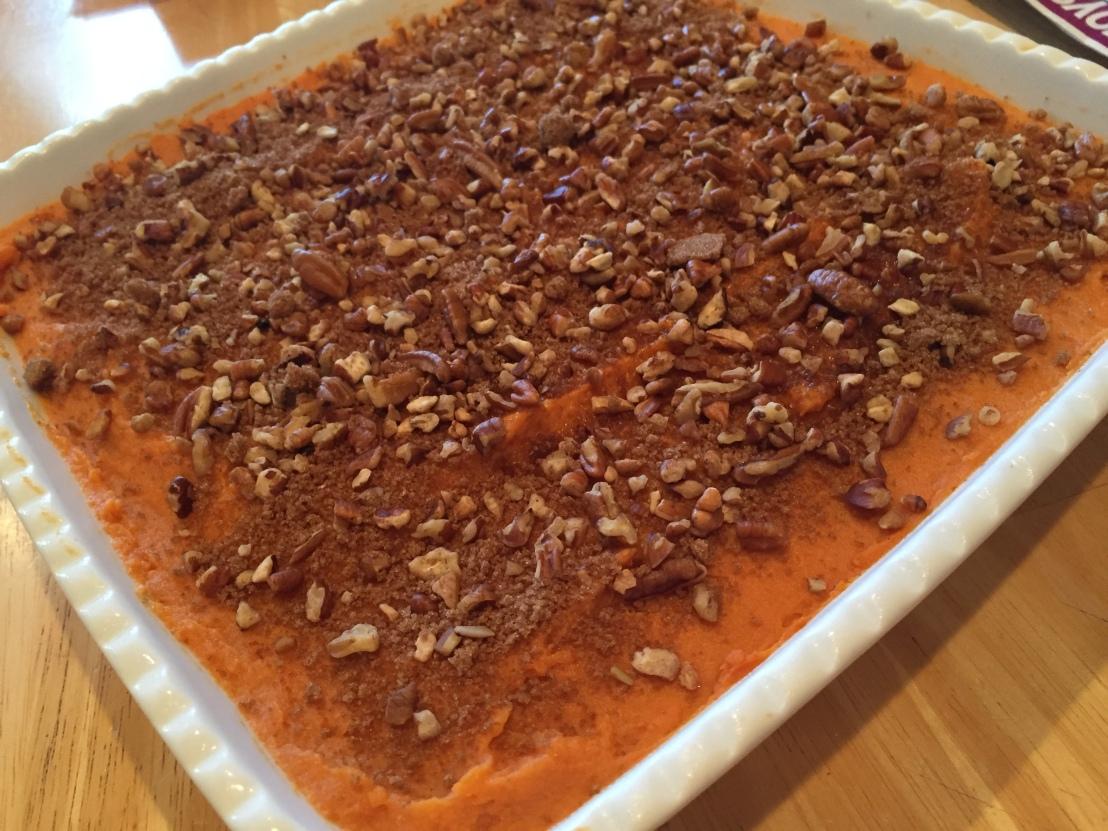 Sweet Potato Casserole - www.onceagainnutbutterblog.com