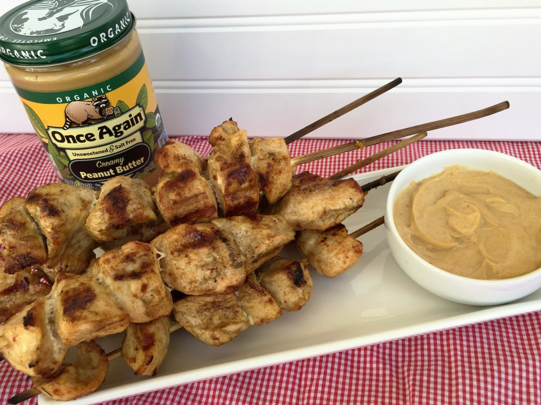 Chicken Kebabs with Peanut DippingSauce