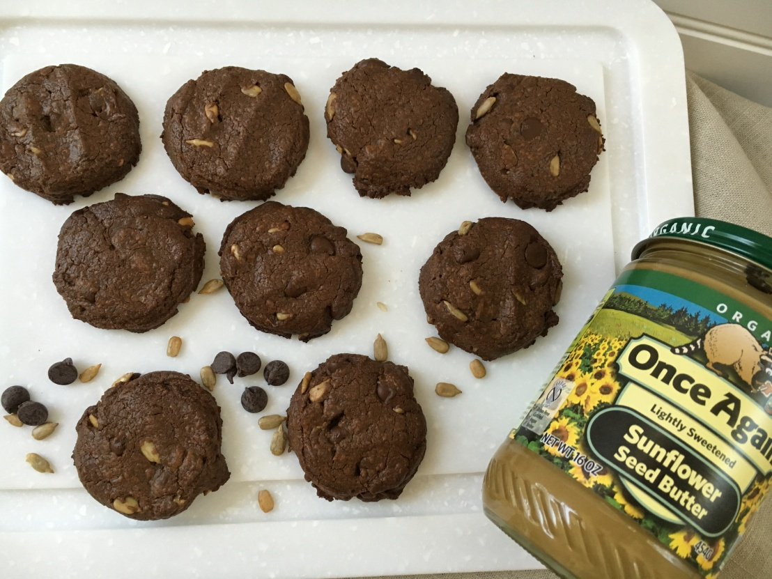 Double Chocolate Sunflower Cookies by Once Again Nut Butter Blog