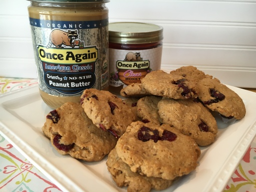 Peanut Butter Oatmeal Cranberry cookie from Once Again Nut Butter