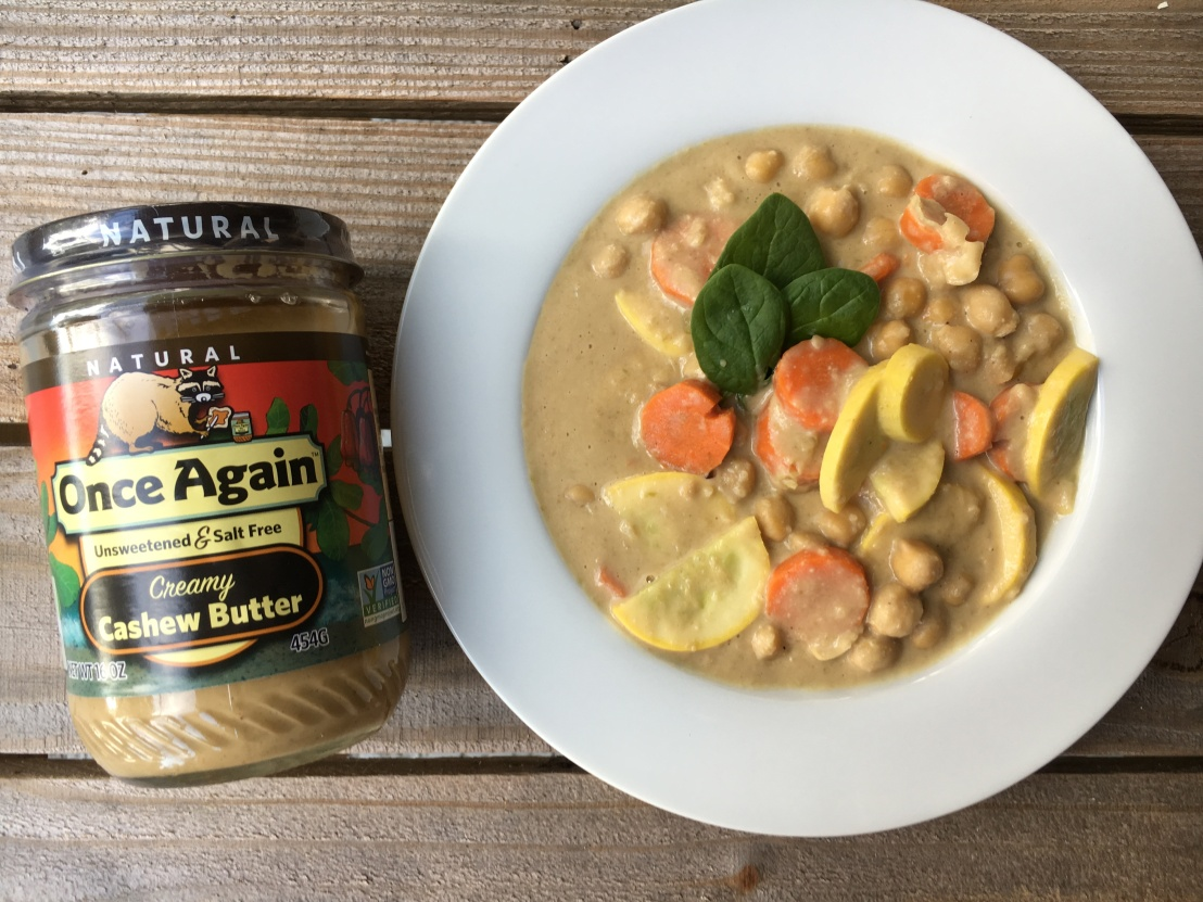 Chickpea and Veggie Stew on Once Again Nut Butter Blog, gluten free and vegan