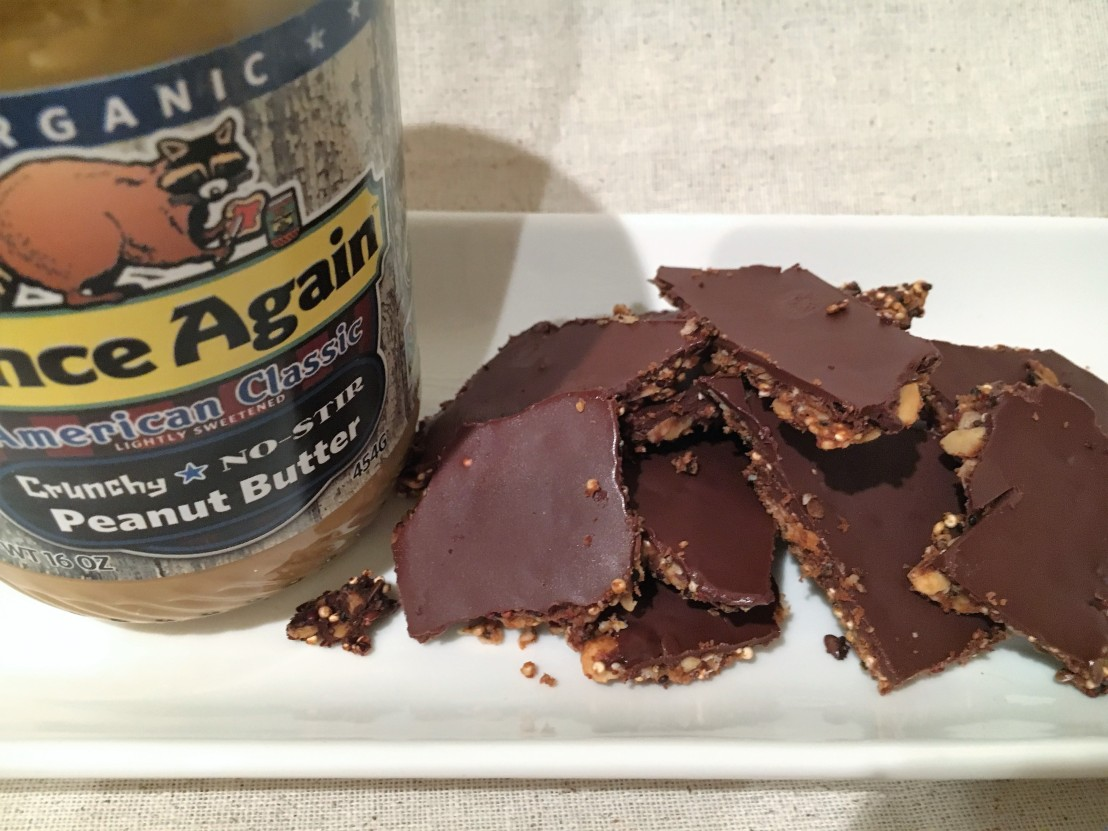 Peanut Butter Quinoa Brittle from Once Again Nut Butter Blog