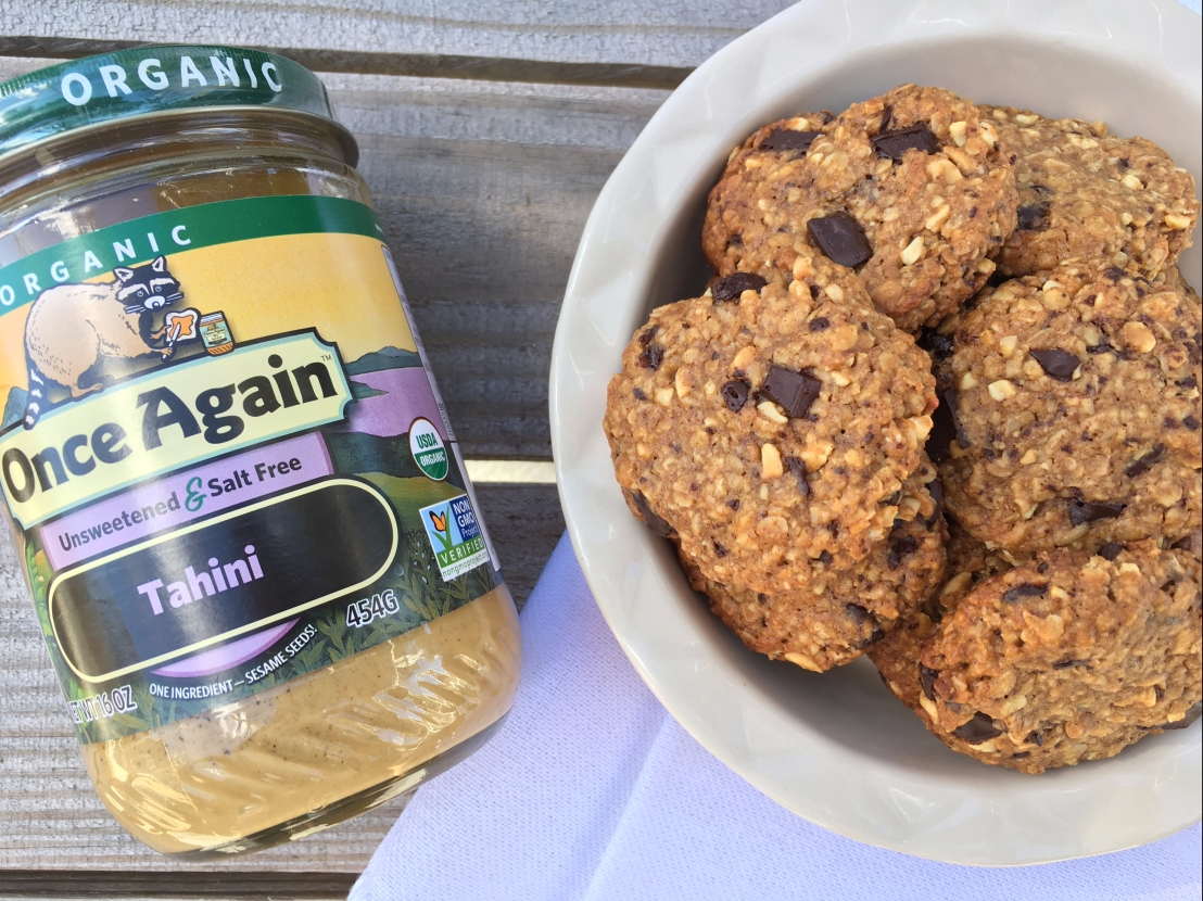 Tahini and Oats Breakfast Cookie by Once Again Nut Butter